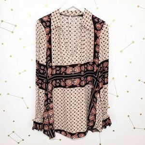 Free People Floral patterned Tunic Top XS
